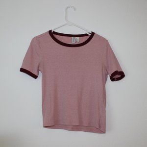 💍Pink Maroon H&M Divided Basic Tee Size Small